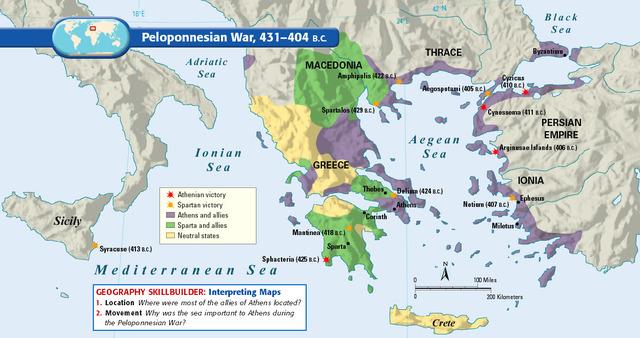 End of Peloponnesian War