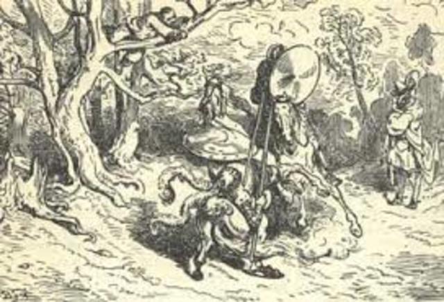 Victorioso combate con el Caballero del Bosque
