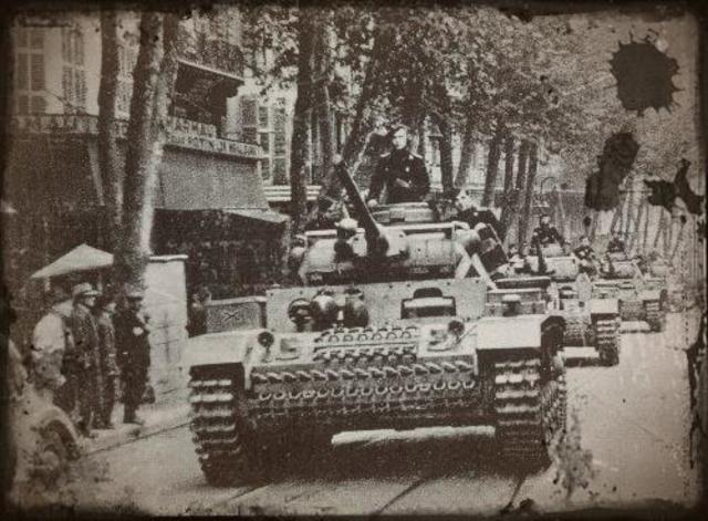 """Les Allemands envahissent la zone """"libre"""" de France"""
