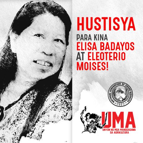 Human Rights Defender Elisa Badayos and Farmer Elioterio Moises