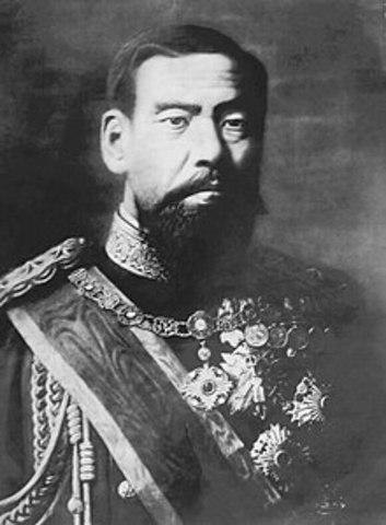 Emperor Meiji dies