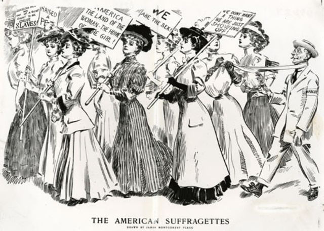 Movement for women's suffrage in Britain