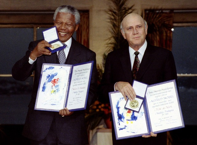 Nelson earns a Nobel Peace Prize