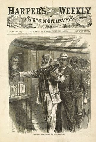 African Americans granted the right to vote