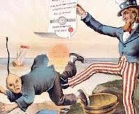 The Chinese exclusion act was created