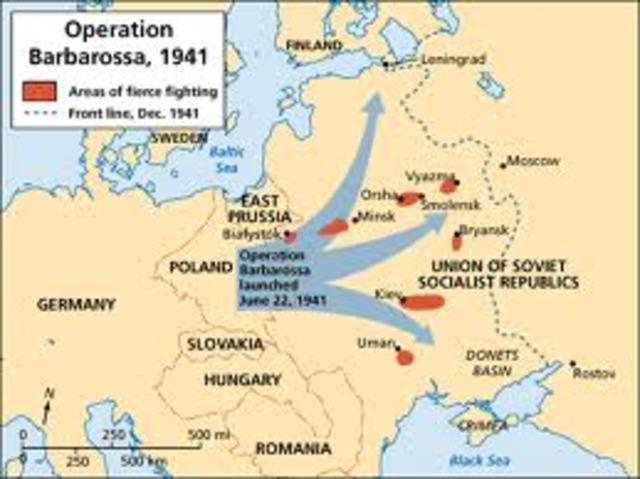 OPERACIÓN BARBARROJA. ALEMANIA INVADE LA URSS