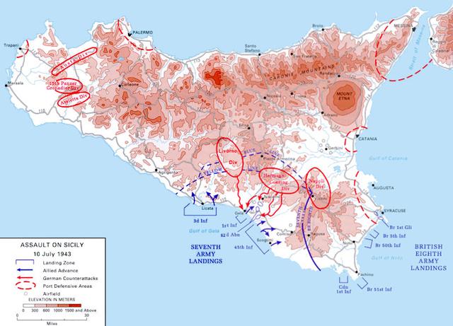 Opération Husky - débarquement des alliés en Sicile
