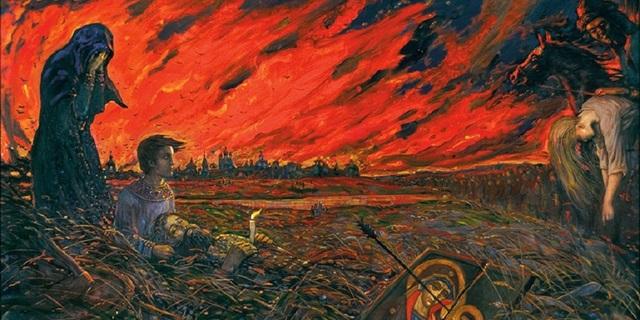 Тахтомыш сжигает Москву