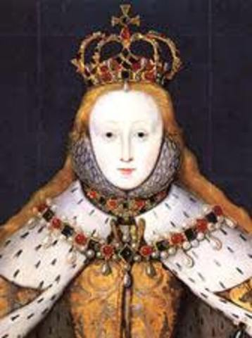 Elizabeth I succeeds to the throne in England