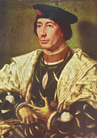 Jan Gossaert, Retrato de Balduino de Borgoña