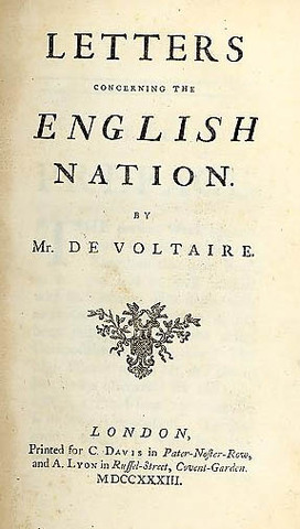 Voltaire Publishes Philosophic Letters to the English