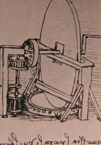 Leonardo Da Vinci Machine For Grinding Convex Lenses