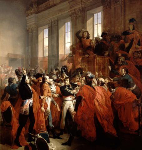 Napleon's coup detat establishes consulate