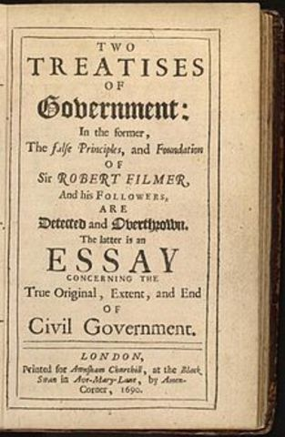 Locke publishes two treaties on government
