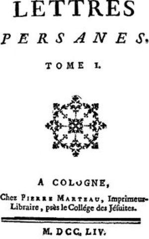 Montesquieu published Persian letters