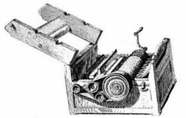 Eli Whitney patents the Cotton Gin