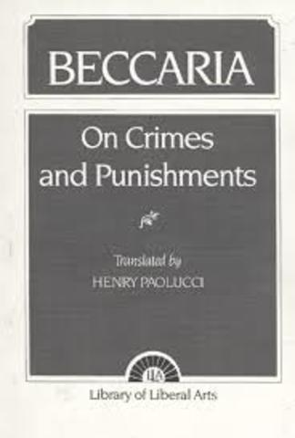 beccaria published on crimes and punishments