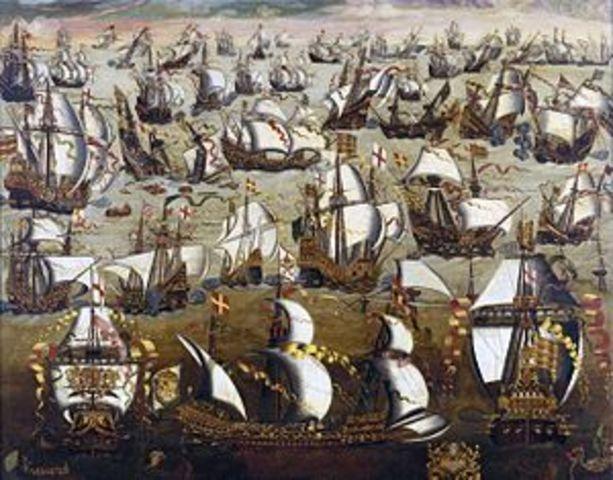 The Spanish Armada in 1588