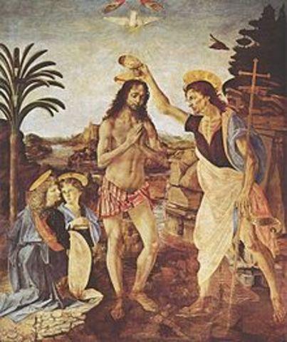 Appreticed to the artist Andrea di Cione known as Verrocchio