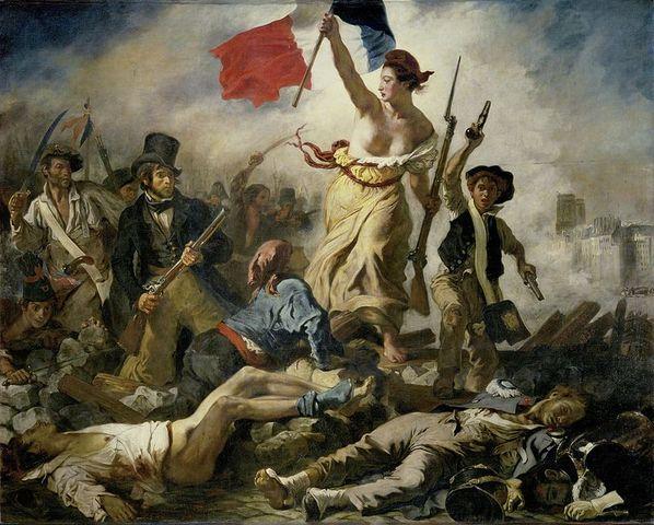 La Libertad guiando al pueblo (Delacroix)