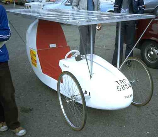First solar car