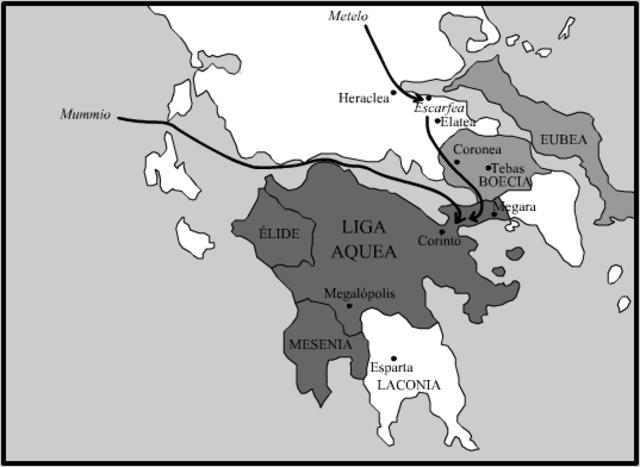 Corinto cae ante los Romanos