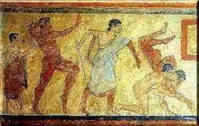 Fundación de los juegos atléticos romanos