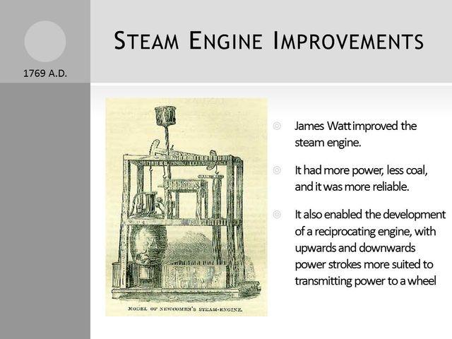 James Watt Advancements to the Steam Engine