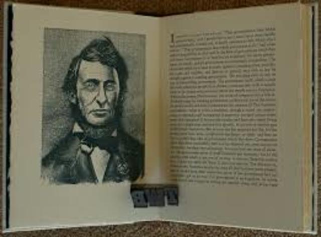 "Henry David Thoreau Published ""Civil Disobedience"""