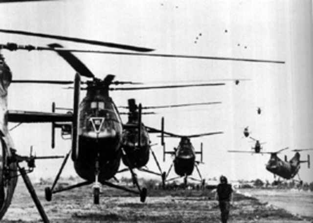 First US Helicopters Arrive