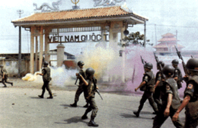 South Vietnamese Fire on Buddhists