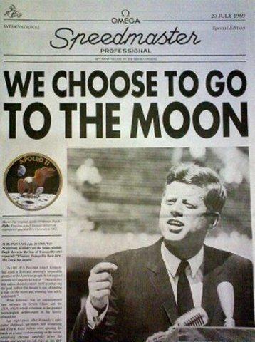 President Kennedy announces goal to reach the moon