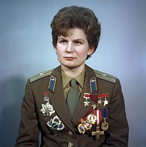 USSR puts the first Woman in space