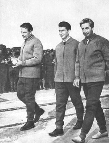 Soviets Have First Multi-person Crew