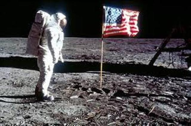 USA Puts The First Man on the Moon