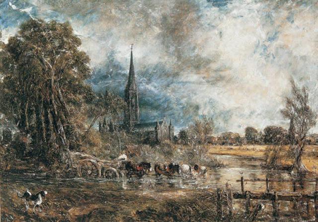 La catedral de Salisbury desde los prados