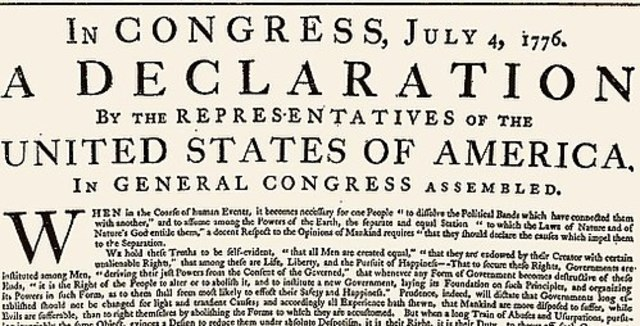 America Declares its Independence