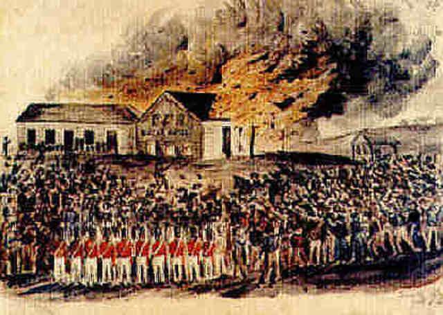 Bentley's Eureka Hotel is burned down