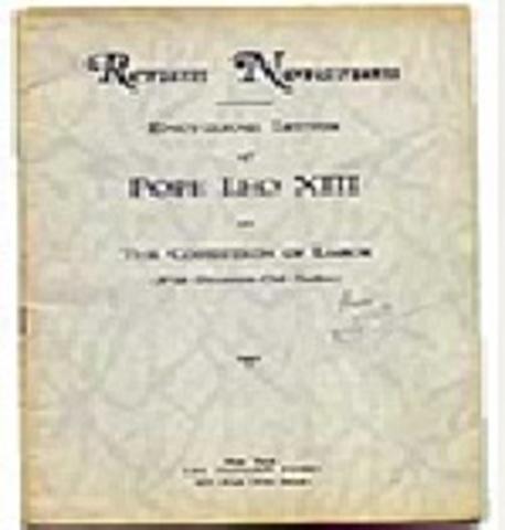 ENCÍCLICA LEON XIII