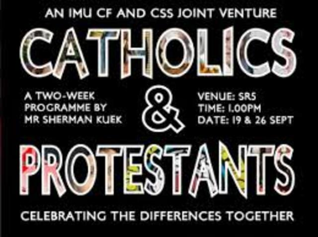 (6 history event) Catholics and protestants