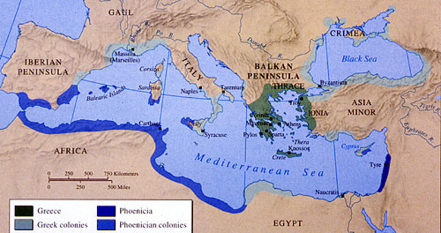 Comienza la colizacion griega de occidente