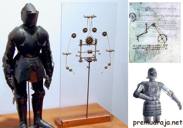 Механический человек  Леонардо да Винчи