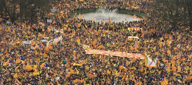 Manifestació catalana a Brussel-les (fet social)