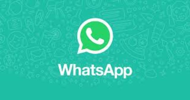 Aparece el WhatsApp.