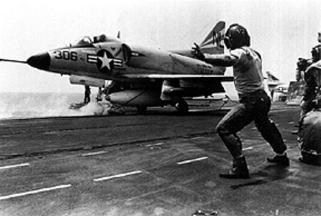 US Aircraft Attack North Vietnam
