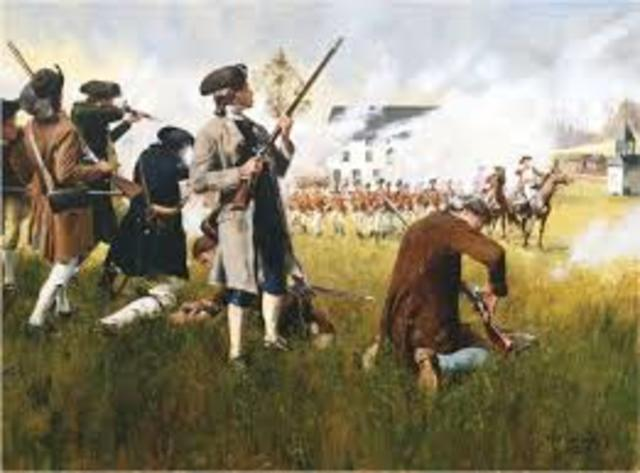 The First Shots of the Revolutionary war