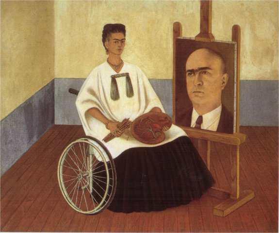 """Autorretrato """"con el retrato del Dr. Farill"""" 46"""