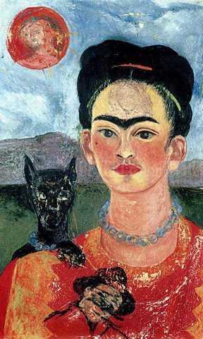 """Autorretrato """"con el retrato de  Diego en el pecho y María entre las cejas"""" 47"""