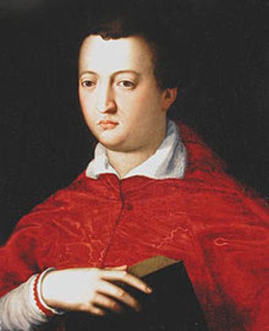 Giovanni de Medici moves to Florence
