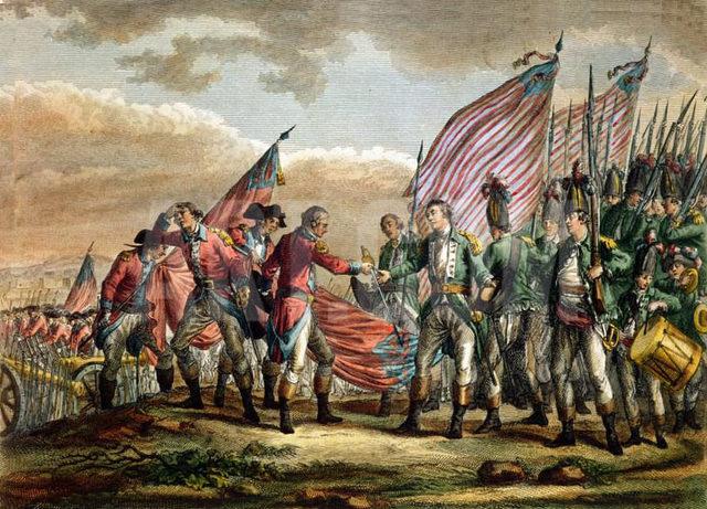 British Surrender at Saratoga